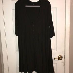 Torrid sz 2 olive green button front dress